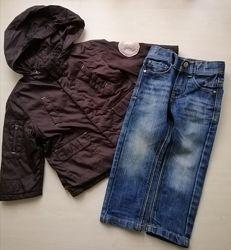 Набором джинсы, куртка-ветровка мальчику р. 86-92, 2года.