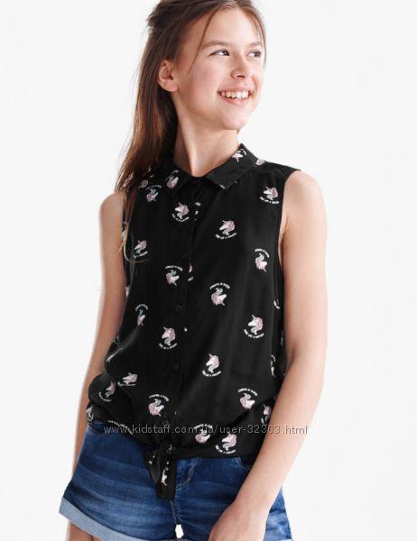 Блуза, футболка с единорожкой 146р