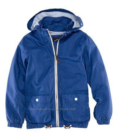 Куртки, ветровки на мальчиков H&M рост 98-140