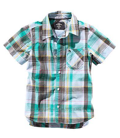Рубашки летние для мальчиков с коротким рукавом H&M рост 86-128
