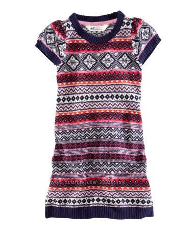 Распродажа платьев вязанных H&M рост 86-128