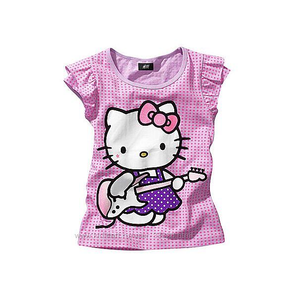 Красочные футболки для девочек H&M рост 122-128