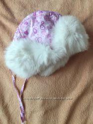 Шапки ушанки с натуральным кроликом для детей
