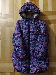 Теплое пальто для девочки, р.104