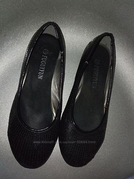 Туфли балетки из пайеток