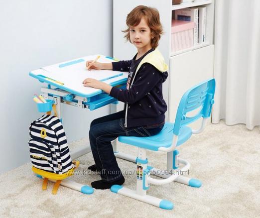 Комплект Evo-kids стол и стул Evo-06 Blue . Парти для НУШ школьникам
