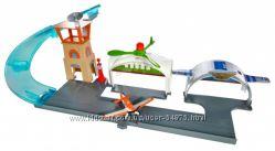 Набор авиагараж аэропорт Литачки Дасти полейполе Mattel Planes оригинал