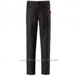 Reima зимние и деми брюки скинни Soft shell на флисе, водоотталкивающие