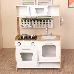 Детская деревянная кухня с аксессуарами EcoToys PLK534