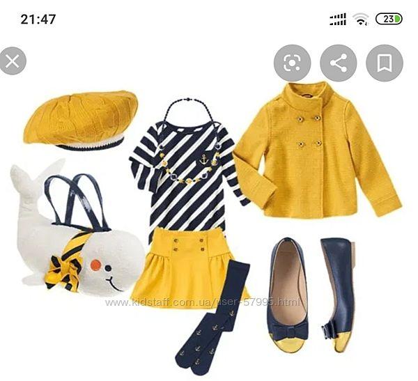 Нарядная курточка, пальто Джимбори на 6-8 лет, к ней шапочка и юбочка