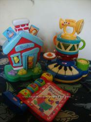 игрушки Fisher Price домик Винни, пирамида оркестр, книжка англ яз
