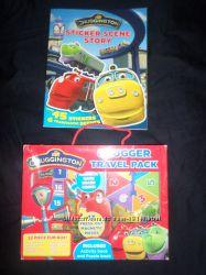 Chuggington чагингтон набор настольная игра с магнитами и книжки англ