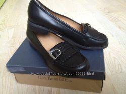 Кожанные туфли-слипоны Bass, с Америки, 37- 38 размер