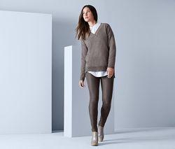 Модные треггинсы-брюки из эко кожи Тсм Чибо Германия размер 38 евро44