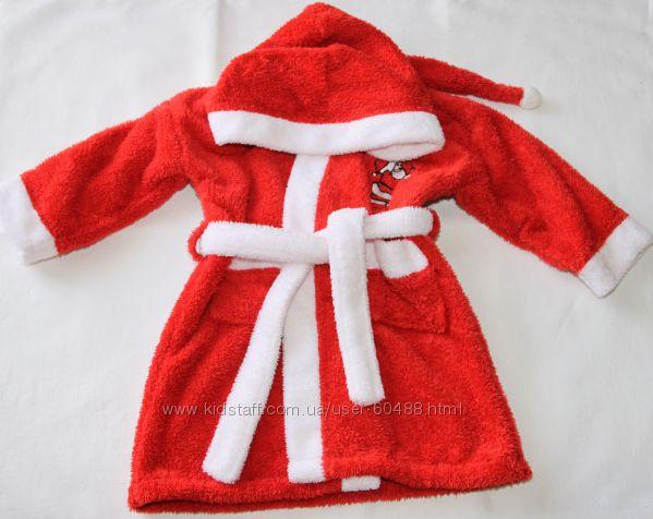 Халат Дед мороз, унисекс на 3 года
