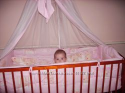 Защита, балдахин, постель в кроватку