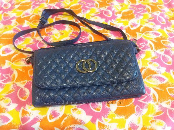 Классная сумочка темно синего цвета