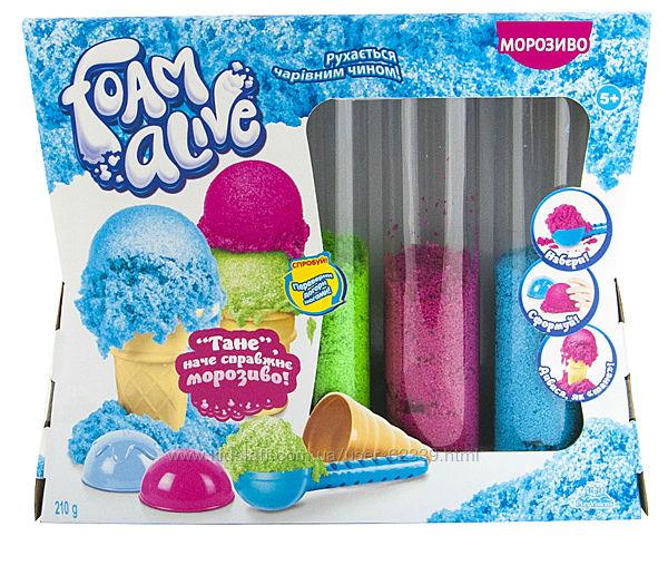 Воздушная пена для детского творчества Foam Alive Мороженое, арт. 5907