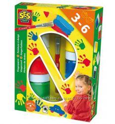 Пальчиковые краски Цветные ладошки, 6 цветов - SES Голландия