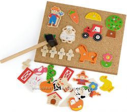 Игра с молоточком Ферма Viga Toys