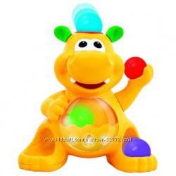 Игрушка Гиппопотам-жонглёр Kiddieland с шариками и молоточком