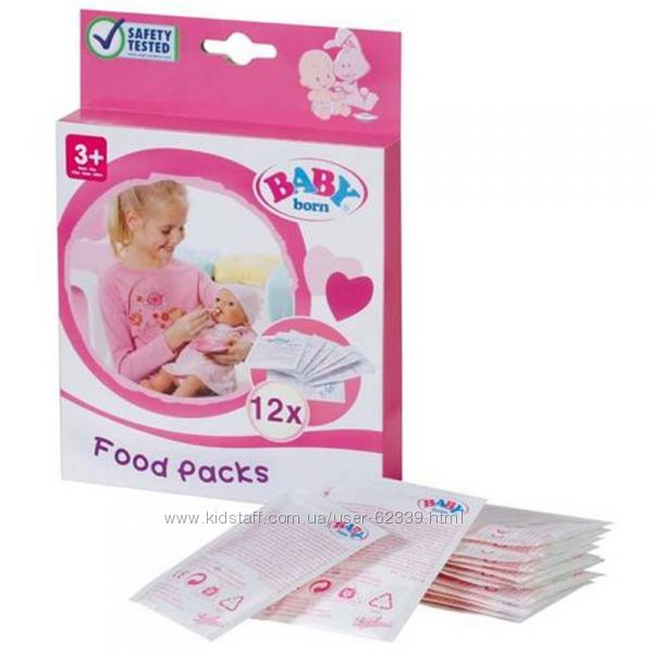 Каша для куклы Baby Born 12 пакетиков - Zapf Creation