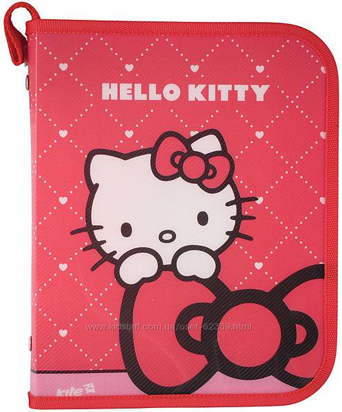 Папка для тетрадок на молнии Hello Kitty Kite