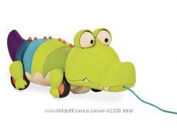 Игрушка-каталка на веревочке Крокодил Клац-Клаус Battat BX1674Z