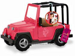 Розовый джип для куклы Our Generation - от Battat