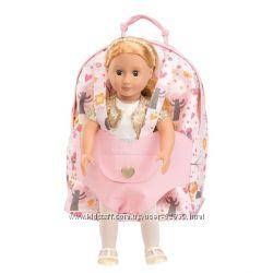 Розовый рюкзак для переноски куклы Our Generation - от Battat