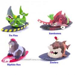 Фингерборд с фигуркой Shreddin Sharks - 8 видов