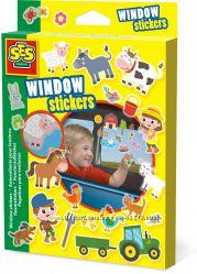 Набор наклеек для окна Веселая ферма - Ses Creative 14271S