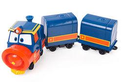 Паровозик Виктор с вагонами Deluxe Robot Trains, арт. 80179