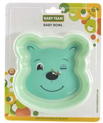 Детская глубокая тарелка Любимые зверушки Baby Team, 370 мл