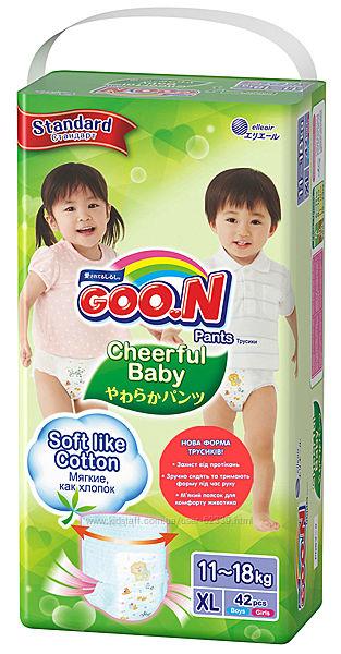 Трусики-подгузники Cheerful Baby Goo. N - размер XL, 11-18 кг, 42 штуки