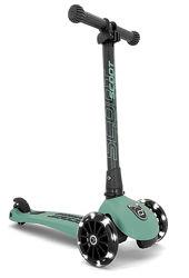 Самокат Highwaykick-3 Scoot and Ride со светящимися колесами, серо-зеленый