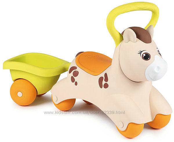Детская каталка Пони с прицепом Smoby, арт. 721500