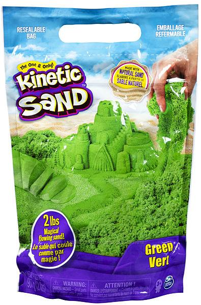 Кинетический песок Kinetic Sand Colour, 907 грамм, зеленый