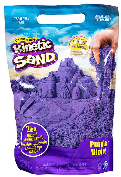 Кинетический песок Kinetic Sand Colour, 907 грамм, фиолетовый