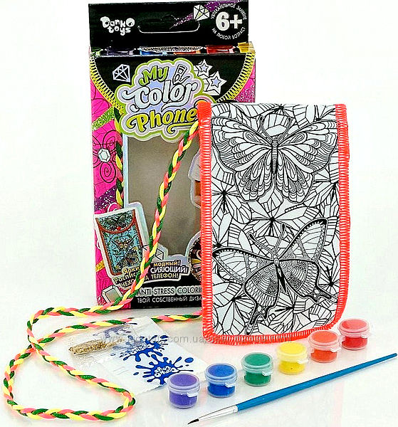Чехол-раскраска My Color Phone Бабочки Danko Toys