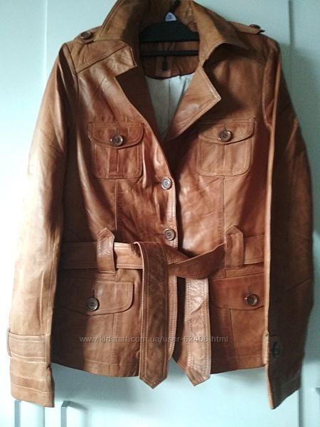 Мягкая  кожанаяягненок курточка С&А Германия S, М