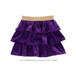 Нарядная велюровая юбка и реглан на 8 лет Gymboree