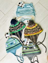 Зимний тёплые шапки Deux par Deux для мальчиков