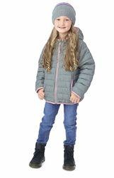 Стеганная демисезонная куртка для девочки NANO от 10 до -10