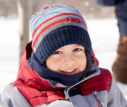 Шапки зимние NANO на флисе 2-7 лет
