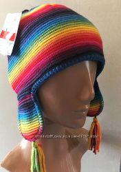 Яркая теплая шапочка на флисе 49-50, 52-53 размер от C&A Германия