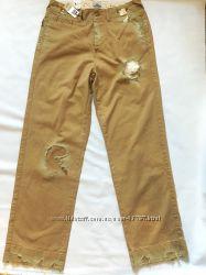 Стильные джинсы c потертостями и дырками Lee 32-34 оригинал