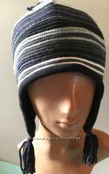 Теплая шапка полностью с флисом внутри 92-110, 116 -140, 146-164 маломерит