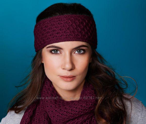 Шикарный комплект повязка  шарф от тсм Tchibo Германия размер универсаль