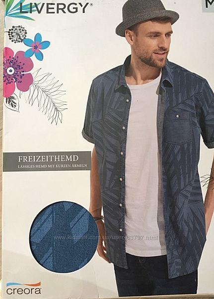 Джинсовые рубашки от livergy в картонной упаковке размер S, M